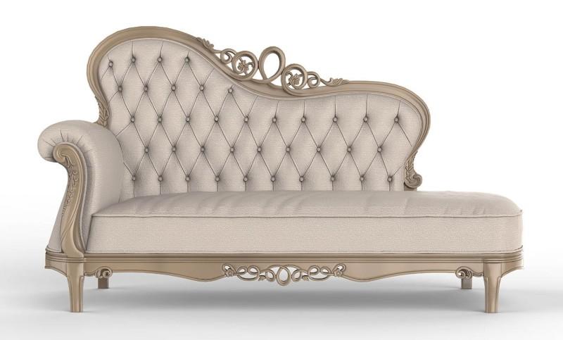 divano antico a capitonné